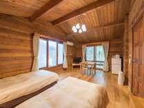 *2名用カナダ産ログハウス(28平米)/カナダ産ログハウス特有の自然の木の香りに包まれます