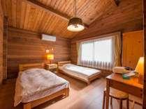 *4名用カナダ産ログハウス(57~66平米)/総の静かな森の中にある カナダ檜づくりの別荘風宿泊施設
