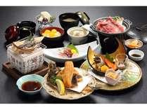 房総会席コース/地元食材を中心に使用したワンランク上の会席コース(一例)
