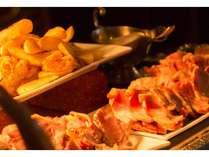 ランチビュッフェ(真名)同じ食材でも料理のレパートリーが豊富(一例)