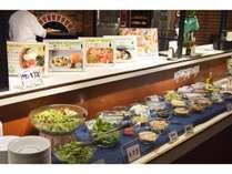 *昼食ビュッフェ(レストラン ブローニュ)/お客様にはサラダビュッフェが大好評!(一例)