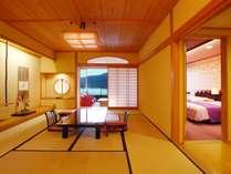 12畳+3畳+洋風応接室+ツインベッドルームの和洋室。