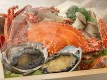 雲仙地獄をイメージした海鮮蒸し(イメージ)※料理の一例