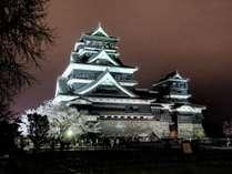 熊本城まで歩いて10分ほど。