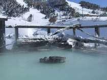 真冬の露天風呂