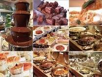 <ディナーバイキング>オープンキッチンで作られるバラエティ豊かなお料理をお楽しみください。