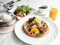 ルームサービス ワッフル朝食 イメージ