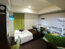 都内ホテルとしては初となる本格的鉄道ジオラマなどを備えた「鉄道ルーム・クハネ1304」