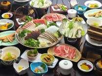 デラックス皿鉢会席※2名様盛りの一例(2020年秋冬)