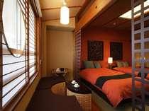 ■お部屋■和室ですがベッドでお支度しています。ご滞在中もたたみの上にごろんとできます。