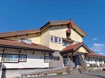 *ホテル外観「神楽とワインの里」花巻市大迫町にございます。早池峰山登山の拠点にもおすすめです!