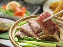 雫石牛の陶板焼き◆芳醇(ほうじゅん)な風味と深い味わいが特徴のブランド牛