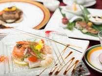 *【ご夕食一例】旬の素材を使った本格フレンチコースをごゆっくりお楽しみくださいませ。