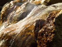 源泉かけ流し100%。もちろん加温加水も一切なしの自慢のお湯。