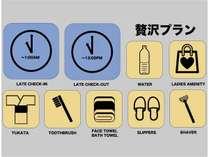 【5~12名用】【贅沢プラン】チェックイン・チェックアウトが延長可能+アメニティフルセット付 【朝食無
