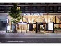 【ホテル玄関】夜