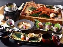 和食レストラン「熊八亭」ずわい蟹と豊後鶏釜飯会席