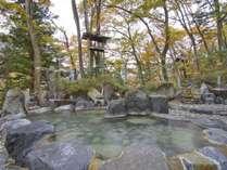 ◆混浴露天風呂/岩風呂 露天風呂で一番大きなお風呂。