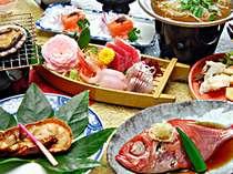 【グレードアップ料理】海鮮しゃぶしゃぶを部屋食!金目鯛のしゃぶしゃぶ・伊勢海老・あわびの海鮮プラン