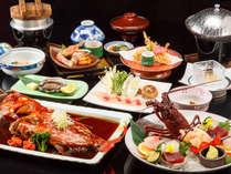 【板長おすすめ】伊勢海老お刺身・金目鯛煮つけ・あわびの踊り焼き♪当館で最高級の会席をお部屋食