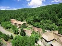 高原の緑に囲まれたホテルハーヴェスト蓼科