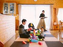 【ウェルカムベビーのお宿認定コテージ】お子様向けにおもちゃもご用意♪好きなだけ遊んでね