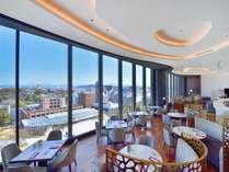 【カフェレストランクオーレ】熊本城周辺が一望できます。