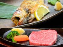 【高級魚のどぐろ】【能登牛ステーキ】メインは別々に♪