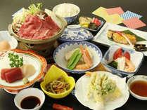 *【雫石牛しゃぶしゃぶプランお料理一例】雫石に来たからには是非味わって欲しいお料理