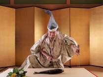 食の伝統儀式「庖丁式」を執り行う館主