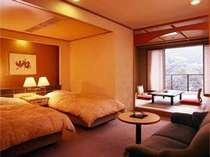 ビューティー&ヘルシー館和洋室は10畳+ツインベットで充実