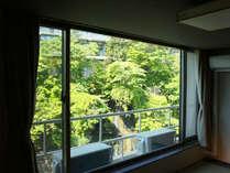 湯仙峡(リニューアル館)からの眺め