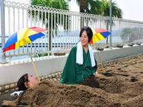 指宿名物「砂むし温泉」です