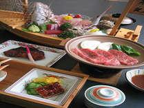 お魚だけでなくお肉もついたよくばり会席(例)