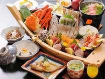 舟盛とズワイガニのお料理(例)