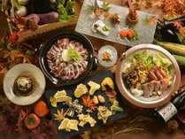 ◆バイキング・献立例/実演天ぷらや、二種の和鍋、季節の魚介を楽しめるメニュー