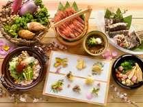 ◆バイキング・献立例/山菜や春野菜を中心とした実演天ぷら、旬の刺身など、北海道の春を楽しめる