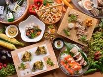 ◆バイキング・献立例/実演天ぷらやちらし寿司など、見て食べて楽しいバイキング