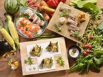 【夕食バイキング/夏の献立】北海道の夏野菜を中心に、近郊で獲れた魚介を使ったさっぱりレシピ