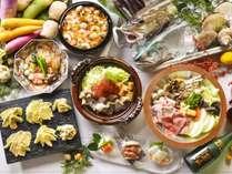 【夕食バイキング/冬の献立】当館オリジナル鍋比べなど、心も体も温まる献立の数々