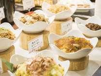 【朝食バイキング】御飯のおかずに最適な、和惣菜コーナー