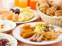 【朝食バイキング】洋食・デザートも豊富、20品のソフトドリンクも魅力