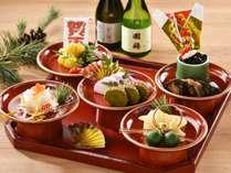 【夕食バイキング/正月献立】和洋バイキングの他、正月を彩る華やかなおせち料理をご用意