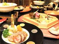 ご夕食一例~新鮮な地元の高原野菜を中心に、四季折々のお料理をお楽しみください。