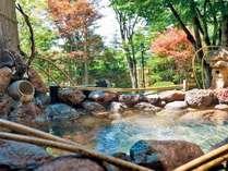 庭向きに面した解放感ある客室露天風呂