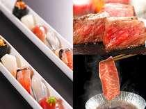 スタンダード会席は寿司に鳥取和牛の嬉しいチョイス♪