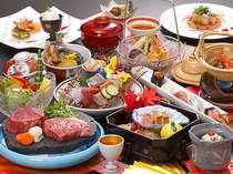 県産牛のフィレとロースグレードアップ会席♪160gのステーキは圧巻!