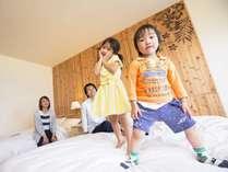 【プレミアフロア】コンフォートツイン☆キングサイズベッドに子どもたちも大喜び♪