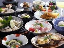 【じゃらん限定】大人気「2種から選べる会席料理」を特典付きで!季節会席と牡蠣会席を2名別々でもOK♪