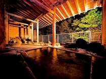 ◆夜の露天風呂~満点の星空を見上げて